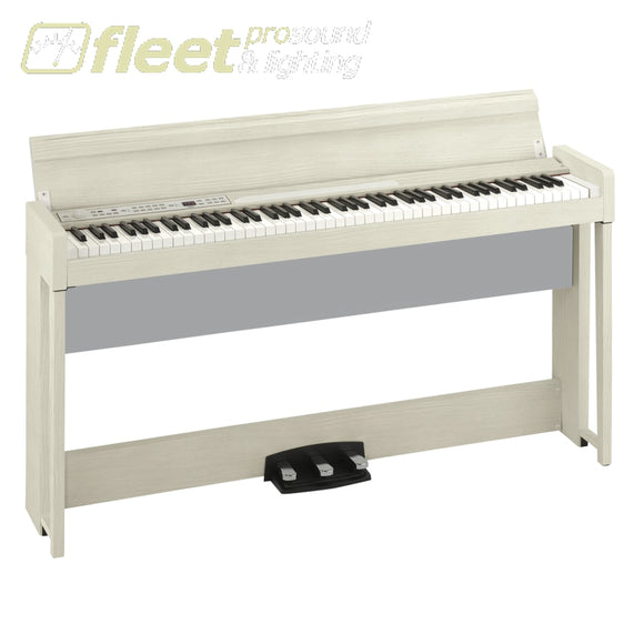 Korg C1AIRWA 88-Key RH3 Concert Piano with Bluetooth Audio Playing Bench included - White Ash DIGITAL PIANOS