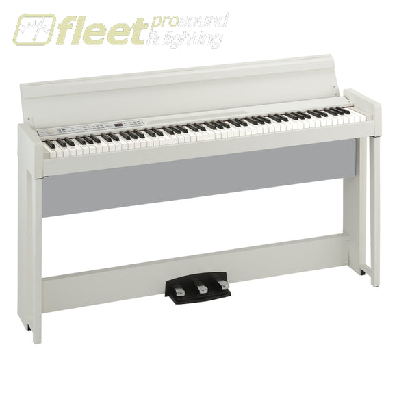 Korg C1Airwh 88-Key Rh3 Concert Piano With Bluetooth Audio Playing Bench Included Digital Pianos