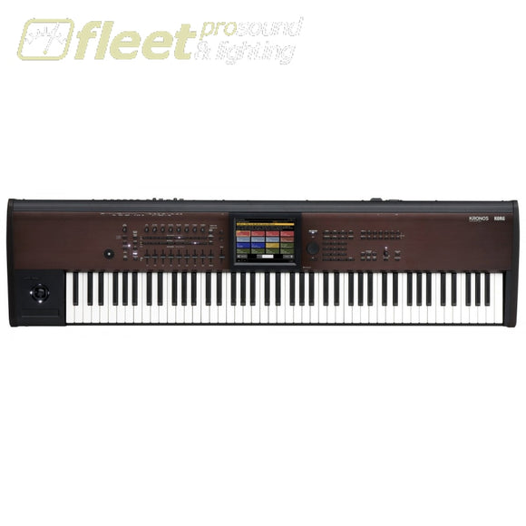 Korg Kronos288Ls 88-Key Synth Action Ssd Tech Karma Usb Direct Connect With Virtualized Hardware Plug In Keyboards & Synthesizers
