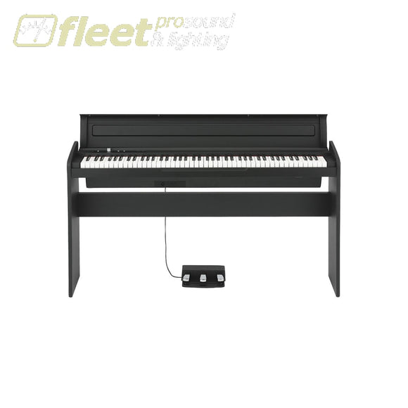Korg Lp180-Bk 88-Key Nh Action Digital Piano 120 Poly 3 Pedals Black Cabinet Digital Pianos