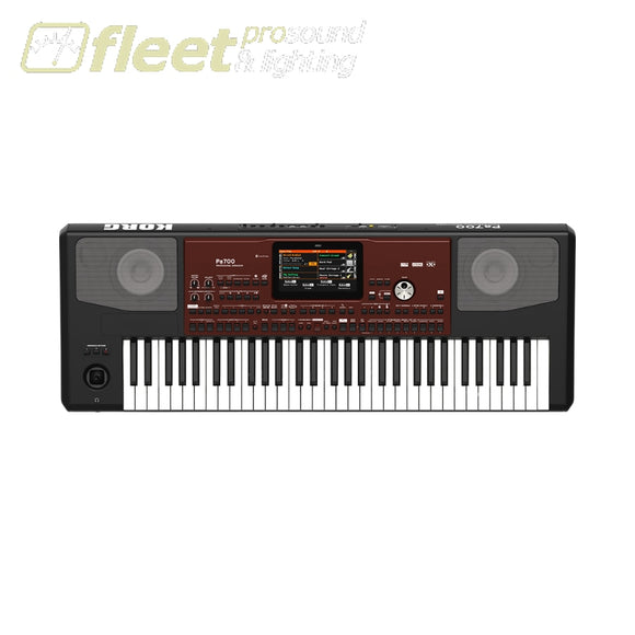 Korg Pa700 61-Key Arranger With Color Touchview Speakers Usb Keyboards & Synthesizers