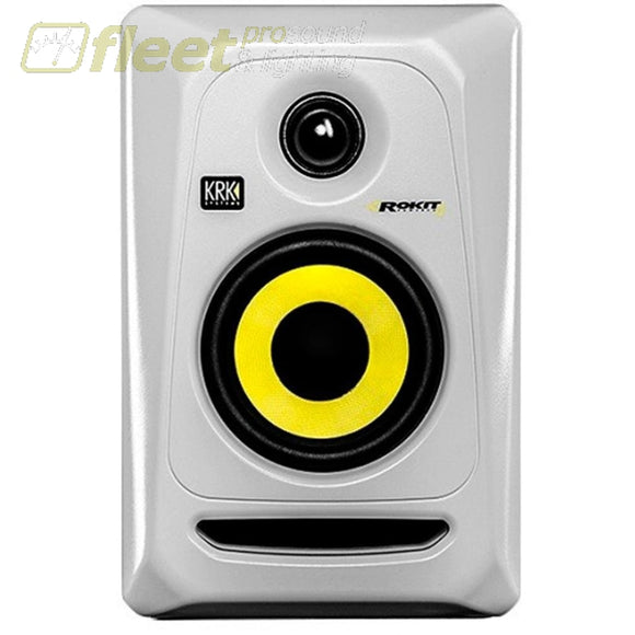 KRK RP4-G3W ACTIVE STUDIO MONITOR - White - 1 unit available POWERED STUDIO MONITORS - FULL RANGE