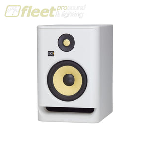KRK RP7-G4/WN Active Studio Monitor w/ 7 Woofer & Kevlar Tweeter - White Noise Edition POWERED STUDIO MONITORS - FULL RANGE