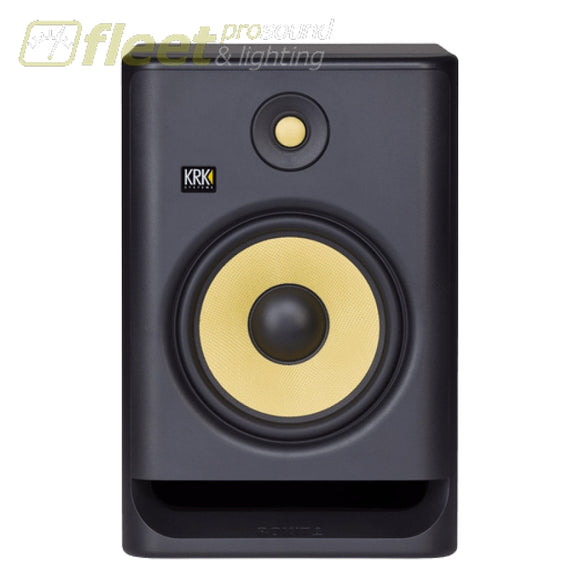 KRK RP8-G4 Active Studio Monitor w/ 8 Woofer & Kevlar Tweeter POWERED STUDIO MONITORS - FULL RANGE
