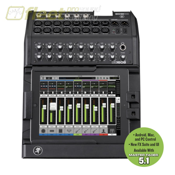 Mackie DL1608 Wireless Digital Mixer redefining LIVE MIXING DIGITAL MIXERS
