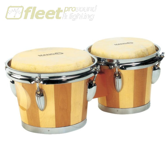 MANO PERCUSSION BONGOS - WOOD FINISH BONGOS