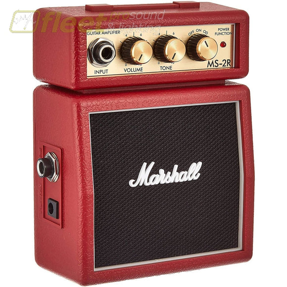 Marshall MS-2R Mini Stack Micro Amp 1 watt - Red GUITAR COMBO AMPS