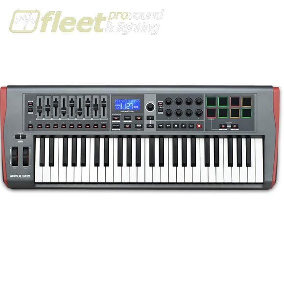 Novation Impluse 49 Precision Keyboard With Instant Mapping Midi Controller Keyboard