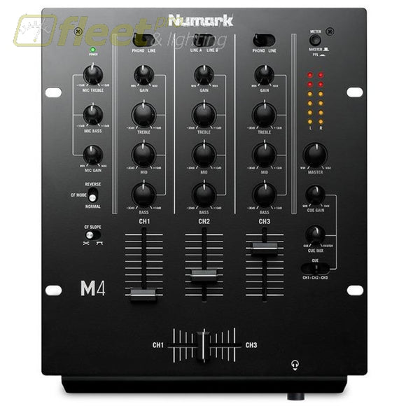 Numark M4Black 3-Channel Scratch Mixer Dj Mixers