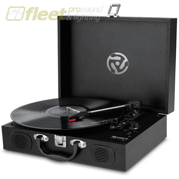Numark Pt01 Touring Classically Styled Suitcase Turntable Belt Drive Turntables