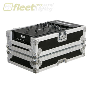 Odyssey Fz10Mix Universal 10 Inch Mixer Case -Flight Zone -Chrome On Black Mixer Cases