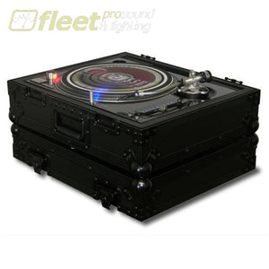 Odyssey Fz1200Bl Black Label Turntable Case For Technics 1200 Style Turntable Accessories