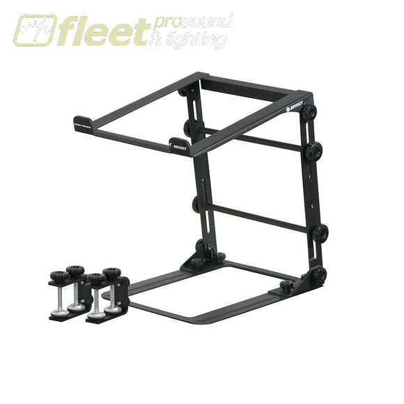 Odyssey LSTANDM Folding Stand Alone Laptop Stand with Table Clamps - Black iPOD & iPAD