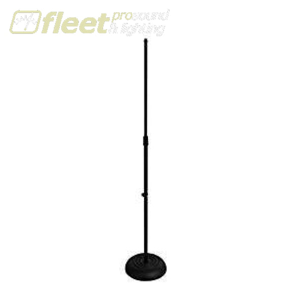 Onstage Ms7201B Straight Mic Stand - Black Round Base Mic Stands