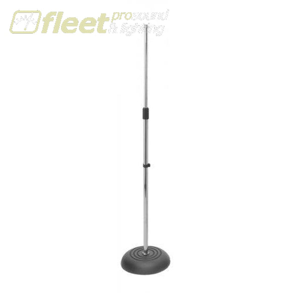 Onstage Ms7201C Straight Mic Stand - Chrome Round Base Mic Stands