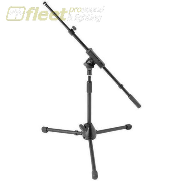 Onstage MS7411TB Short Mic Stand with Telescopic Boom Black MIC STANDS