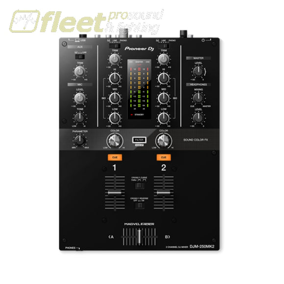 Pioneer Djm-250Mk2 2 Channel Compact Dj Mixer With Rekordbox Dvs - Black Dj Mixers