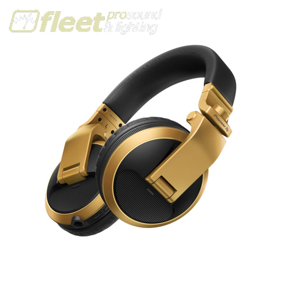 Pioneer HDJ-X5BT-G Bluetooth Version of HDJ-X5 in GOLD DJ HEADPHONES