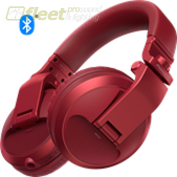 Pioneer Hdj-X5Bt-R Bluetooth Version Of Hdj-X5 In Red Dj Headphones