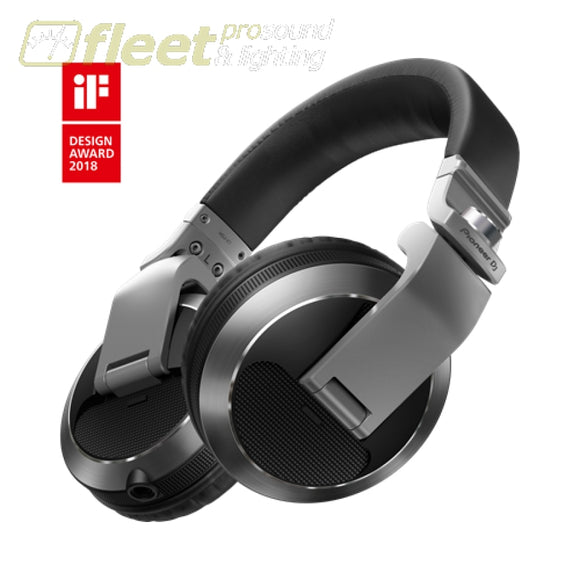 Pioneer Hdj-X7-S Reference Dj Headphones With Detachable Cord - Silver Dj Headphones