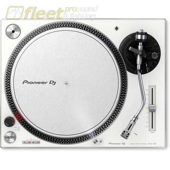 Pioneer Plx-500-W Direct Drive Turntable - White With Usb & Phone-Line Outputs Direct Drive Turntables