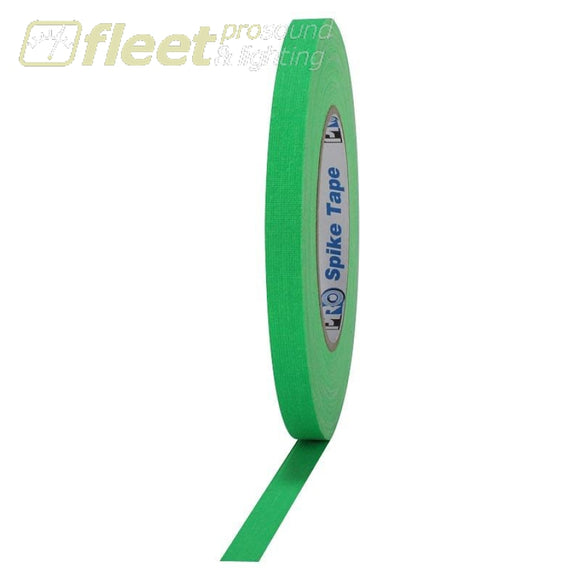 Pro Tape SPIKE-12-45-FGR 1/2 x 45 Yard Pro Spike Tape Roll - Flourescent Green GAFFER TAPES
