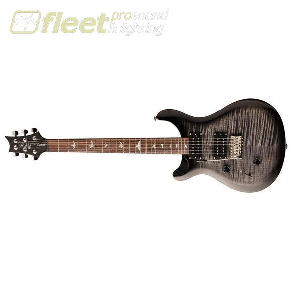PRS CU4LCA SE CUSTOM 24 EXOTIC TOP Left-Handed Guitar - Charcoal Burst (2020 Model) LEFT HANDED ELECTRIC GUITARS