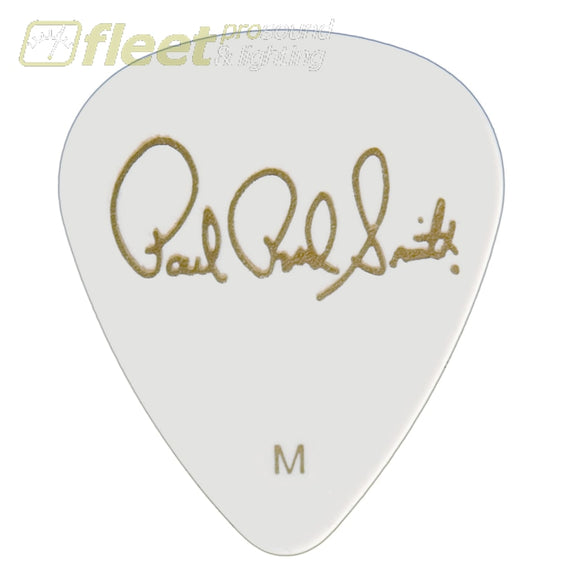 PRS Solid White (MEDIUM) Celluloid Picks - 12 Pack ACC-3212MDZ PICKS