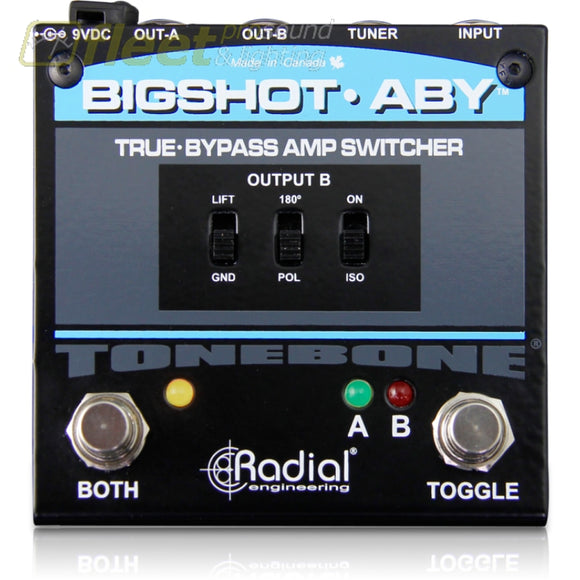 Radial BigShot ABY True-Bypass Amp Switcher GUITAR SWITCHER PEDALS
