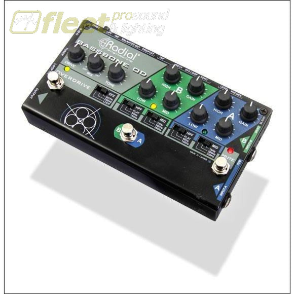 Radial Engineering Bassbone Od Bass Preamp With Overdrive Preamp And Di Box Bass Preamps