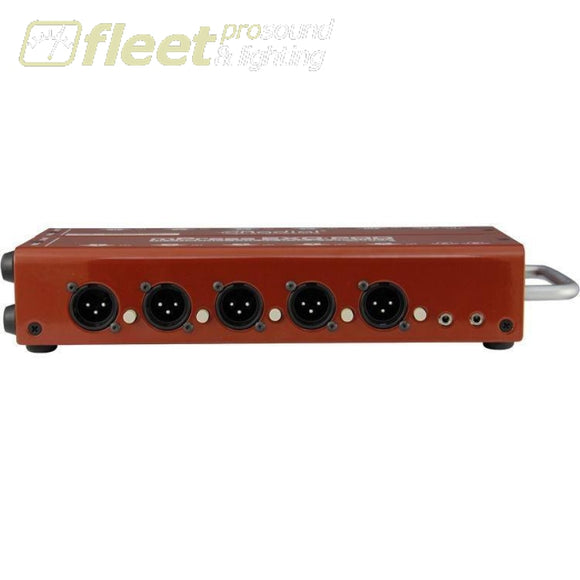 Radial Engineering Exo-Pod Broadcast Splitter Media Boxes