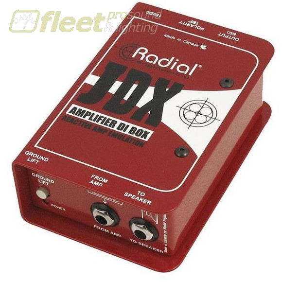 Radial Jdx Reactor Guitar Amp Direct Box Di Boxes