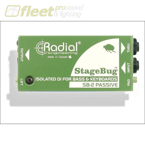 Radial StageBug SB-2 Passive Direct Box DI BOXES