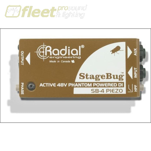 Radial Stagebug Sb-4 Piezo Active Direct Box Di Boxes