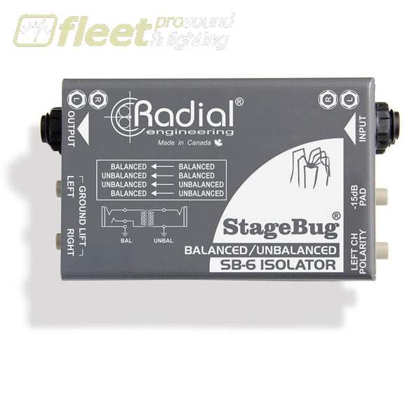 Radial Stagebug® Sb-6 Isolator Di Boxes
