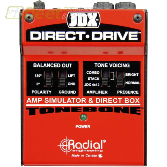 Radical Direct-Drive Guitar Amp Simulator & Di Box Di Boxes