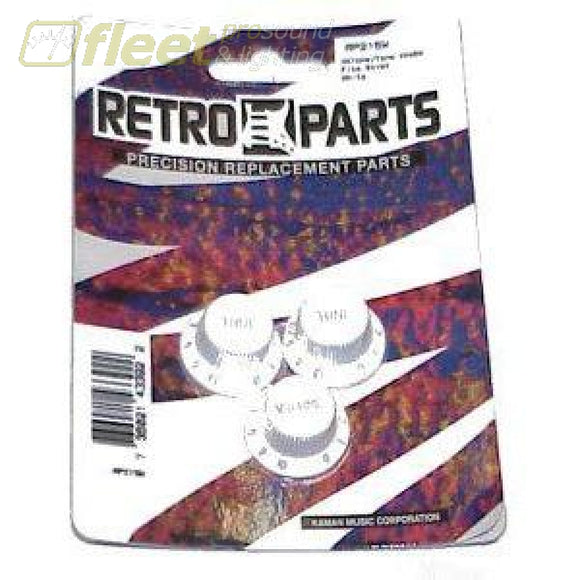 Retro Parts Guitar Knobs Hat Shaped - White - Rp215B Guitar Parts