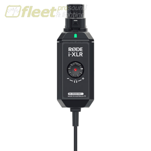 RODE i-XLR Digital XLR adaptor for Apple iOS devices WIRELESS COMPONENTS