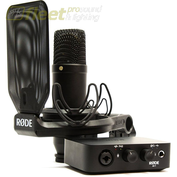 Rode NT1/AI-1 KIT Complete Studio Kit with Audio Interface LARGE DIAPHRAGM MICS
