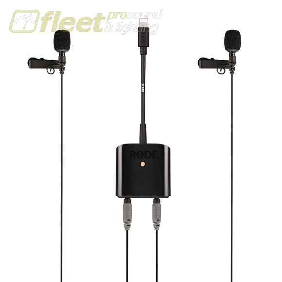 Rode SC6-L Mobile Interview Kit Dual TRRS input and headphone output for Apple Devices VOCAL MICS