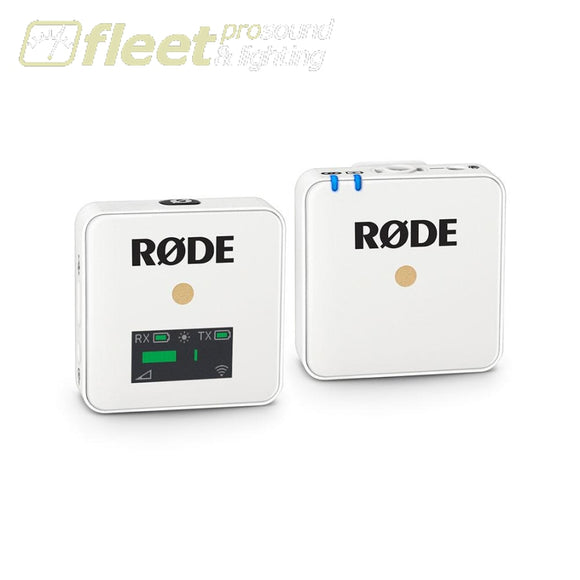 Rode WIRELESS GO Digital Wireless Microphone System - White CAMERA MOUNT WIRELESS SYSTEMS