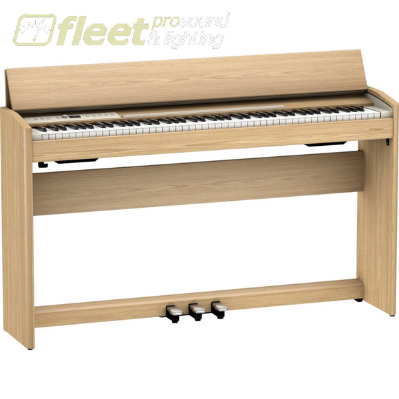 ROLAND F701-CB DIGITAL PIANO WITH BENCH - LIGHT OAK DIGITAL PIANOS