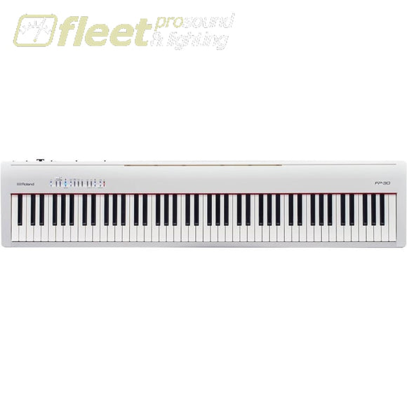 Roland FP-30 - Digital Piano (White) - With Pedal and Bench DIGITAL PIANOS