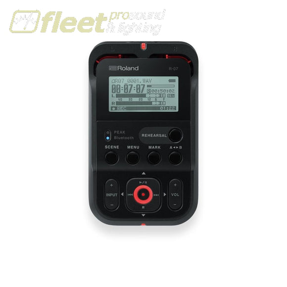 Roland R-07-BK High-Resolution Audio Recorder PORTABLE RECORDERS