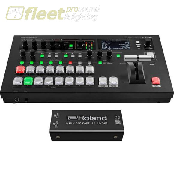 Roland V-60HD-STR Switcher with UVC-01 Encoder Bundle STREAMING DEVICES