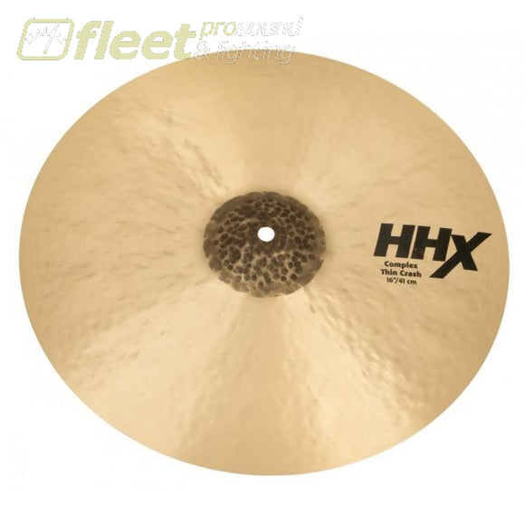 "Sabian 11606XCN 16"" HHX Complex Thin Crash Cymbal CRASH CYMBALS"