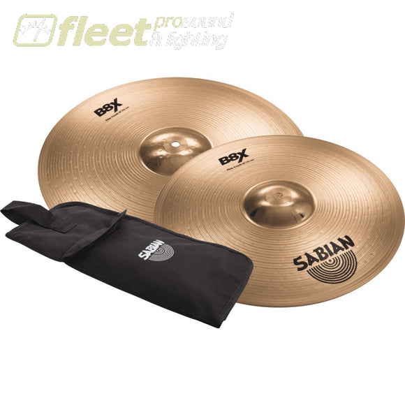 Sabian 45006X1 16 + 18 Crash Value Bundle w/ Economy Stick Bag CRASH CYMBALS