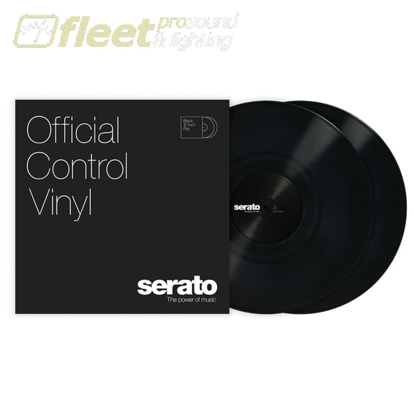 Serato 10 Control Vinyl Pair (2) - Mutiple Colours Available BLACK DIRECT DRIVE TURNTABLES