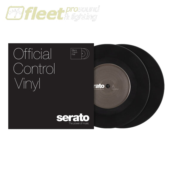 Serato 7-inch Control Vinyl Pair (2) - Multiple Colours Available BLACK TURNTABLE ACCESSORIES