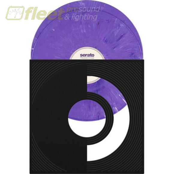 Serato SCV-SP-PUR-RN Purple Rane Serato Pressing 12 Control Vinyl (Marbled Purple-Pair) DIRECT DRIVE TURNTABLES